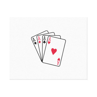 Poker aces gambling gallery wrap canvas