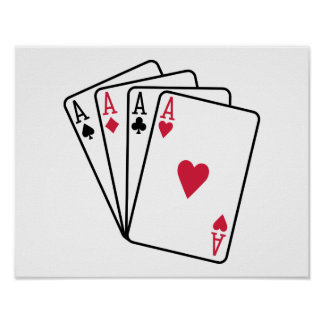 Poker aces gambling posters