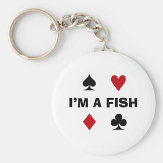 Poker Addict Basic Round Button Key Ring