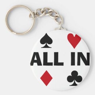 Poker Addict Basic Round Button Key Ring