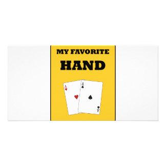 Poker Addict Custom Photo Card