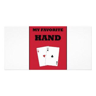 Poker Addict Customized Photo Card