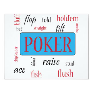 "Poker Addict 4.25"" X 5.5"" Invitation Card"