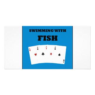 Poker Addict Photo Card