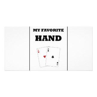 Poker Addict Photo Greeting Card