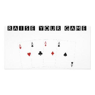 Poker Addict Picture Card