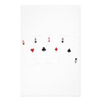 Poker Addict Customized Stationery