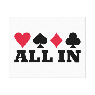 Poker all in canvas print