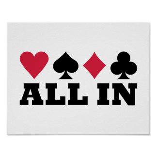 Poker all in posters