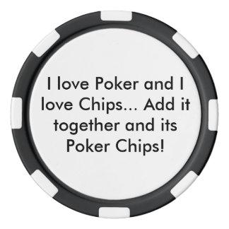 Poker and Chips Poker Chip (Black)