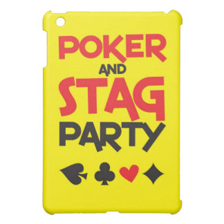 Poker and STAG party greeting card iPad Mini Case