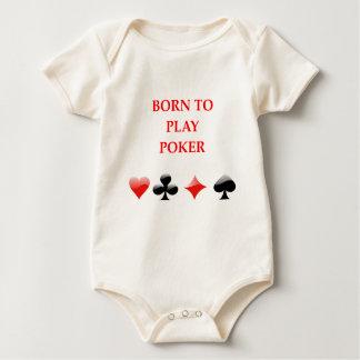 POKER BABY BODYSUITS