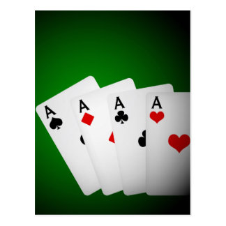 Poker Background Post Card