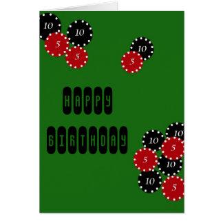 Poker Birthday Greeting Card