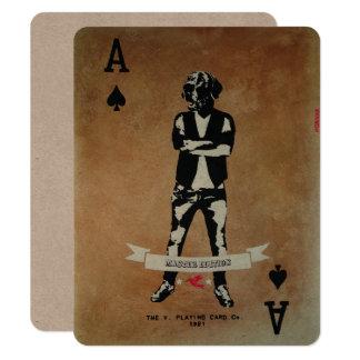 Poker - Blackjack invitation card