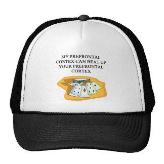 poker bridge card player design mesh hats