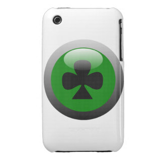 Poker Button - Club Symbol Case-Mate iPhone 3 Cases