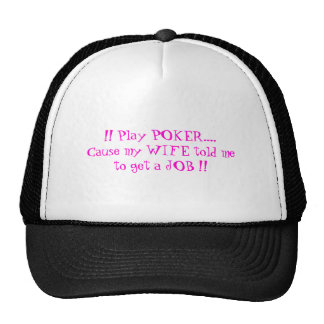 Poker caps cap