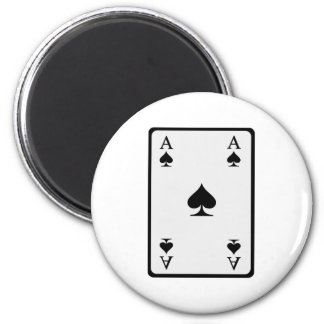 Poker card ace magnet