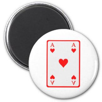 Poker card ace fridge magnets