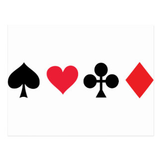 poker card game postcard