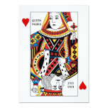 Poker Card Queen + King of Hearts Wedding Invites
