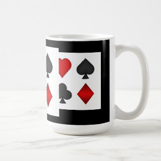 Poker Card Suits: Coffee Mug: Black Jack Coffee Mug