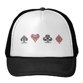 Poker card suits hat