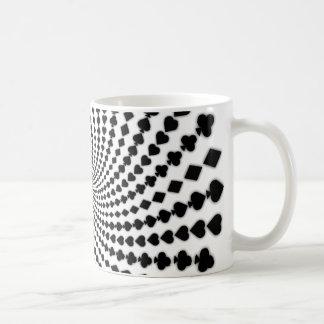 Poker Card Suits Spiral: Coffee Mug: Black Jack