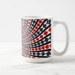Poker Card Suits Spiral: Coffee Mug: Black Jack Basic White Mug