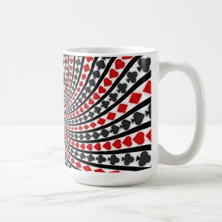 Poker Card Suits Spiral: Coffee Mug: Black Jack Coffee Mug