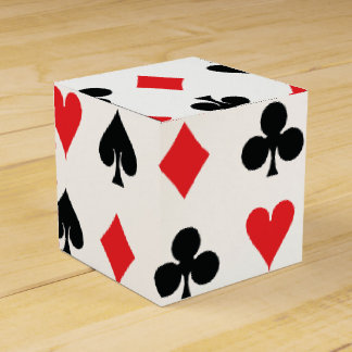 Poker Card Suits Wedding Favour Boxes