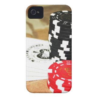 Poker Cards Aces Chips Gambling Casino Win Game Case-Mate iPhone 4 Cases