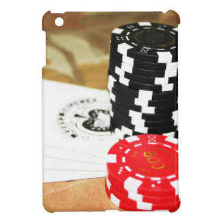 Poker Cards Aces Chips Gambling Casino Win Game iPad Mini Cover