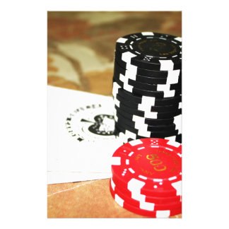 Poker Cards Aces Chips Gambling Casino Win Game Personalised Stationery