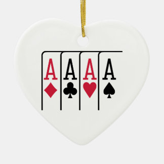 Poker cards aces ornaments