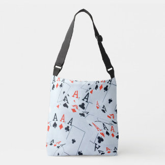 Poker,_Cards,_Aces,_Pattern_Unisex_Cross_Body_Bag. Crossbody Bag