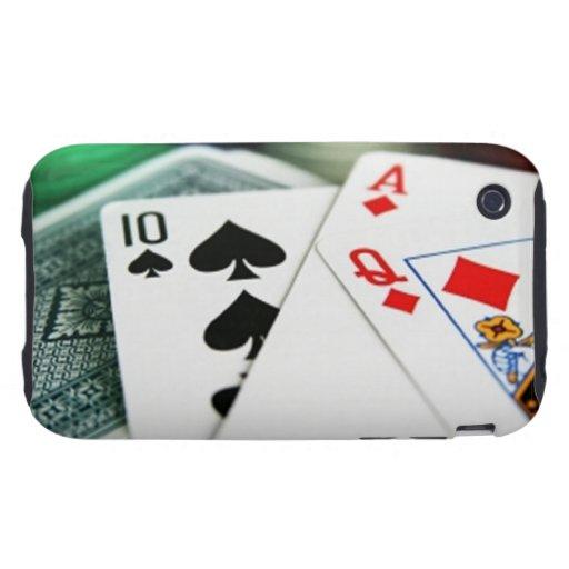 Poker Cards Tough iPhone 3 Case
