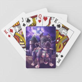 Poker Cards Franky They Pitbull Frankenstein