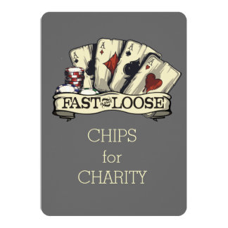 Poker cards gambling chips aces fast and loose