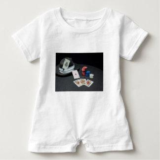 Poker cards gangster hat baby bodysuit