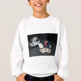 Poker cards gangster hat sweatshirt