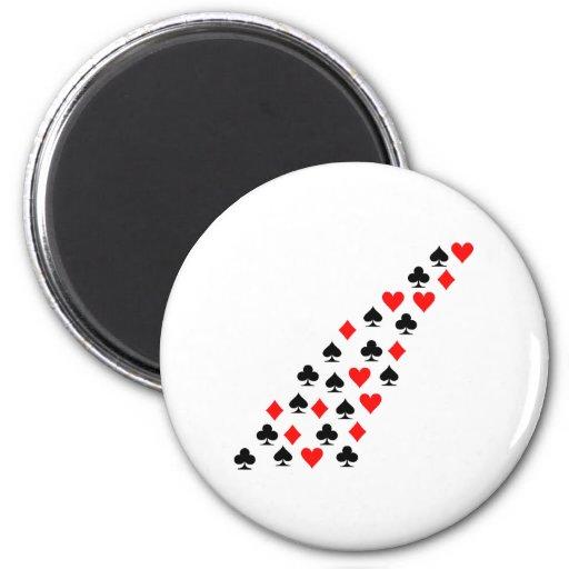 Poker cards fridge magnet