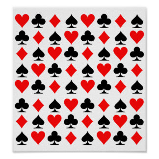 Poker cards posters