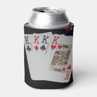Poker Cards Quad Kings, Can Cooler