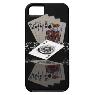 Poker cards with chips iPhone 5 covers