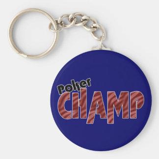 Poker Champ Champion Card Player Key Chain