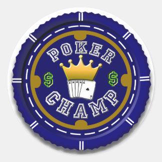 Poker Champ Large Sticker