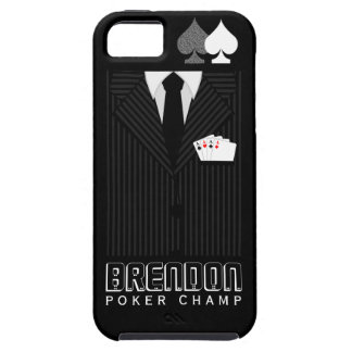 Poker Champ Pinstripe Suit iPhone 5 Vibe Case