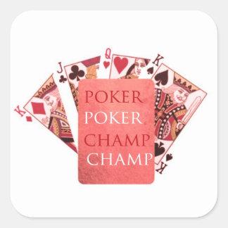 POKER Champion -  Art101 Collection Square Sticker